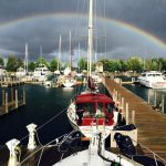 Duncan Bay Boat Club marina rainbow